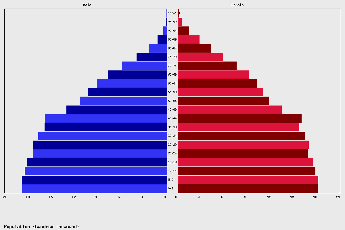 Argentina Age structure and Population pyramid