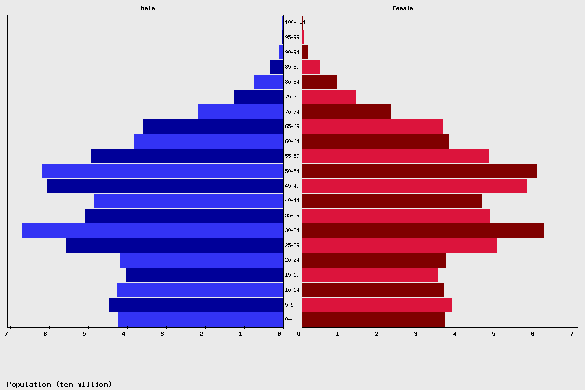 China Age structure and Population pyramid