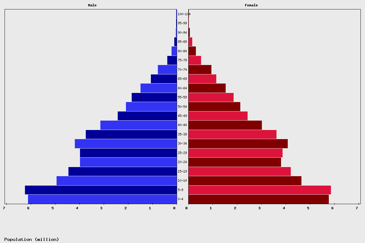 Egypt Age structure and Population pyramid