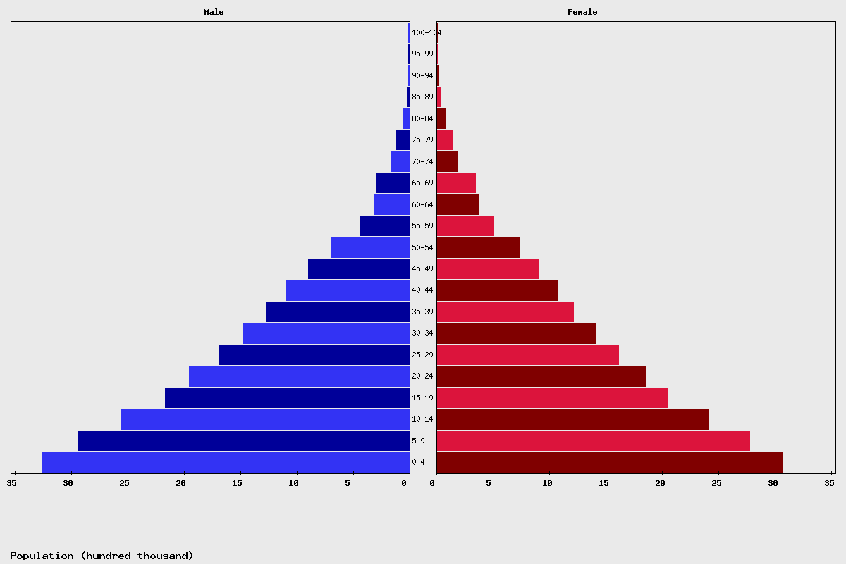 Iraq Age structure and Population pyramid