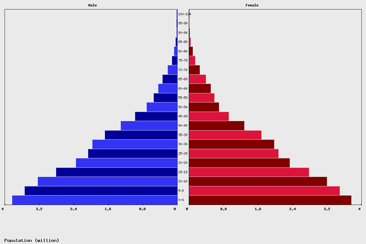Kenya population Chart age structure