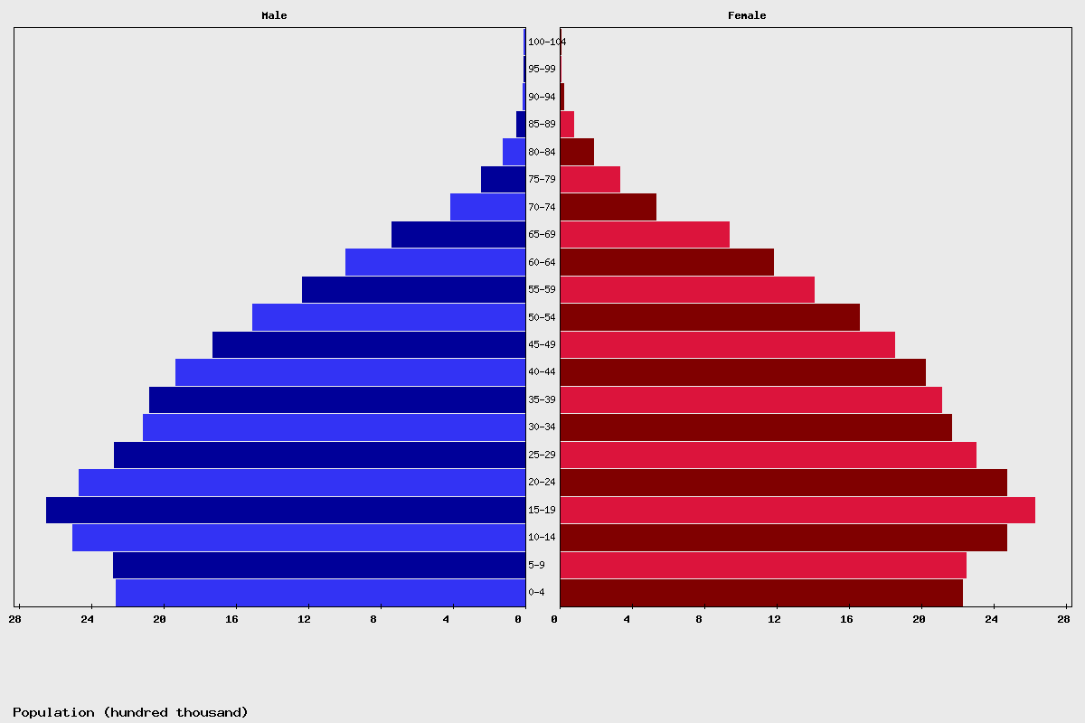 Myanmar population Chart age structure